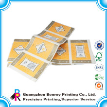 Guangzhou factory cmyk custom made stickers for bottle