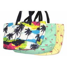 Tela impresa señoras bolsa de playa y la bolsa de la mujer