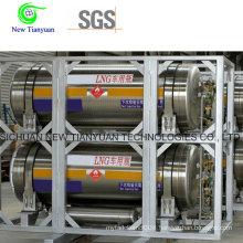 500L Volume Capacity Cryogenic Vehicle Dewar Steel Cylinder