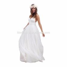 2017 hot sell white color wedding dress off shoulder spaghetti strap long design wholesale evening dress