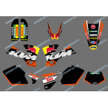Наклейки с графикой и фонами в новом стиле (0422 Bull) для Ktm Exc 125/200/250/300/400/450/525 2003