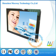 front acrylic frame 19 inch led advertising display