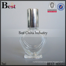 7ml glass bottles perfume heart shape; hot sale perfume oil bottles in dubai; best-selling glass bottle in UAE