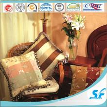 Almohada de seda cuadrada de alta calidad de Febric con el cordón