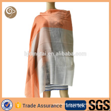 Gewebte Kontrastfarbe dünne Kaschmir Schal Indien