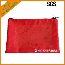 bolsa de documentos con cierre de cremallera de nylon de alta calidad