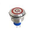 Interruptor de botão de metal LED redondo e momentâneo