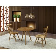 4 asientos de madera maciza Round Top Design Cafe mesa