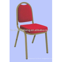 Gold Steel & Red Fabric Dining Chairs (YC-ZG38-01)