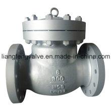 Válvula de retención oscilante de extremo de brida de acero inoxidable