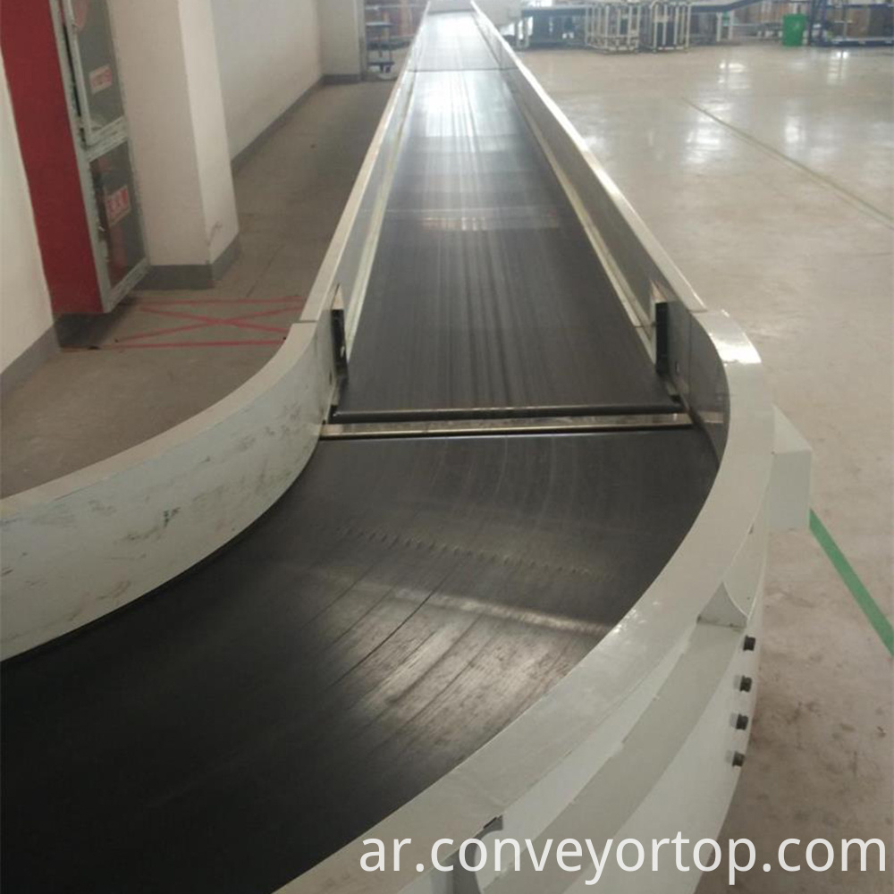 Curve belt conveyors