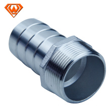 stainless steel threaded hose nipple pipe fitting