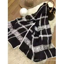 Star Style Silk Check Schal