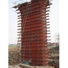 Coffrage en acier réutilisable de pilier de pont