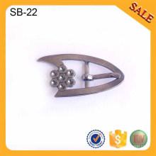 SB23 Silver slider ajustateur métal boucle clips accessoires chaussures chaussures boucle 2016