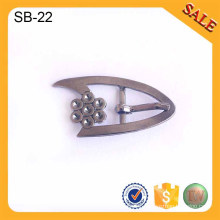 SB23 Silver slider adjuster metal buckle clips shoe accessories shoes buckle 2016