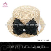 Chapeau de soleil de paille de blé de dames avec des chapeaux de plage de conception étonnante