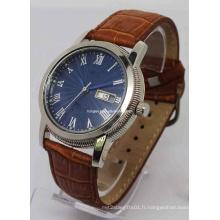 Montre-bracelet à quartz de mode des hommes (HAL-1234)