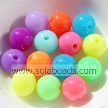 Top Selling 6mm Acrylic Round Smooth Ball Pandora Beads