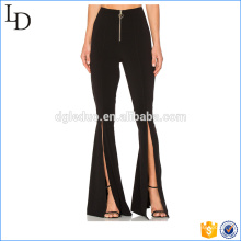 Pantalones palazzo de talla grande y pantalones anchos de fondo anchos personalizados para damas