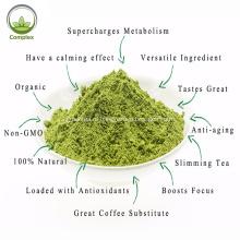 Порошок зеленого чая для чая на заводе