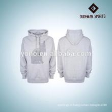 sweatshirts hommes blancs avec des modèles d'écran en soie marques OEM