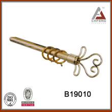 B19010 accesorios decorativos para el hogar barra de cortina finial, barra de cortina pintada, barra de cortina de hierro