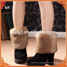 100% Real Rabbit Fur Boot Cuff / Boot Topper