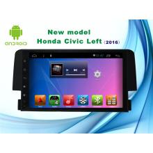 Système Android Navigation GPS de 9 pouces pour Honda Civic Lecteur DVD avec Bluetooth / TV / WiFi