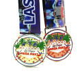 Custom Circular Feature Rotating Marathon Medal