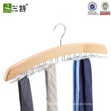 tie rack in wood