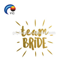 Romantique Argent Flash Team Bride Tatouage Temporaire