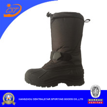 Black Oxford Snow Boots for Men
