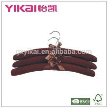 Fational conjunto de 3pcs N / T tafetá acolchoado cabide de roupas em luxious cor