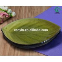 Nueva placa de gres de cerámica impresa de encargo del verde del diseño
