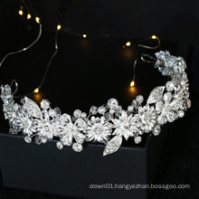 Handmade crystal high quality leaf hairband bridal hair accessories hair clip