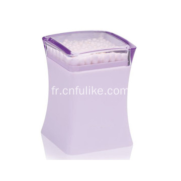 Élégants porte-cure-dents en plastique violet carré