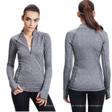 Woman Sport Stretchy Sweatshirt Fitness Gym Running Yoga Jacket