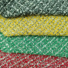 Boucle de cuadros con bucles de tejido de moda