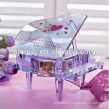 красивый выгравированный кристалл фортепиано для свадьбы день рождения подарки пользу .хрустальные подарки