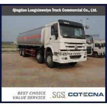 Camiones cisterna de combustible de chasis Sinotruk de 340HP 8X4 de gran capacidad