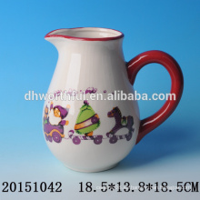 Jarras decorativas de agua de cerámica con Santa Claus para la fiesta de Navidad