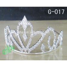 New Wholesale fashion metal silver plated beauty crowns