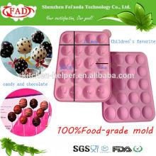 Nuevos moldes al por mayor del chocolate del silicón del grado alimenticio del diseño, molde del silicón