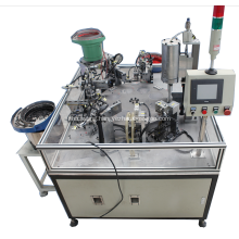 Button type emitter automatic welding assembly machine