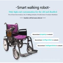 Silla de ruedas eléctrica plegable barata para personas con discapacidad