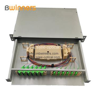 24/48 Core Fiber Optic Termination Box Rack Mount