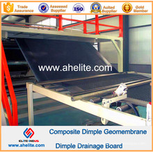 HDPE Dimple Geomembrane Composite Black Color PP Nonwoven Geotextile