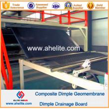 Geotêxtil não tecido composto de PP da cor do preto do Geomembrane do Dimple do HDPE
