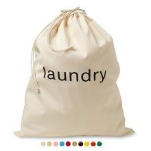wholesale Customized Cheap Eco-friendly Canvas drawstring big hospital Storage laundry bag with logo